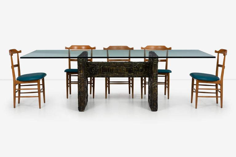Late 20th Century Adrian Pearsall Brutalist Style Dining Table or Desk For Sale