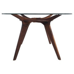 Adrian Pearsall Center/Breakfast Table with Glass Top