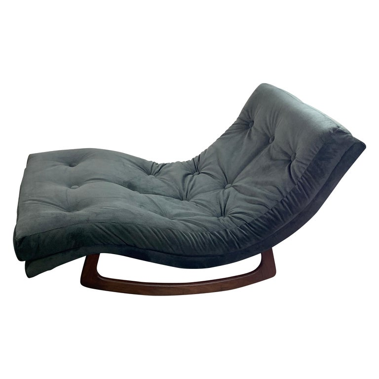 Adrian Pearsall Chaise Lounge Rocker For Sale