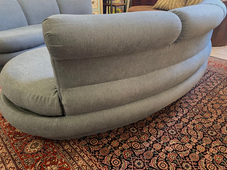 Adrian Pearsall Cloud Sofa for Comfort Designs Newly Upholstered in Slate Gray For Sale 3