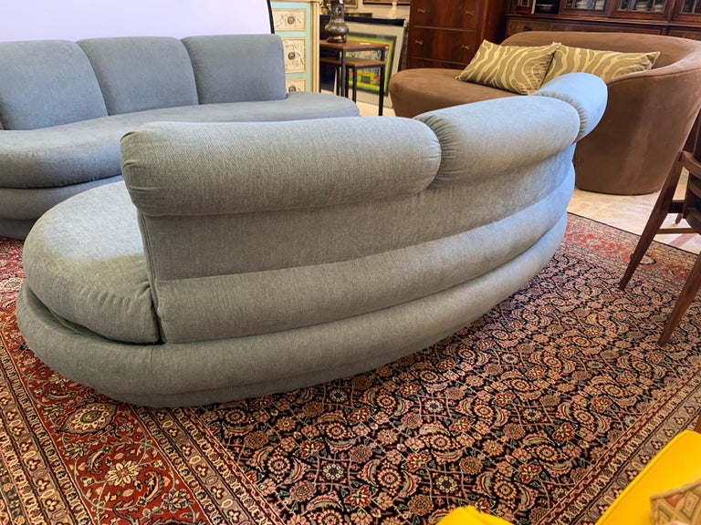 Adrian Pearsall Cloud Sofa for Comfort Designs Newly Upholstered in Slate Gray For Sale 4