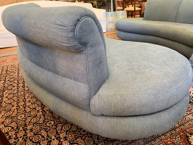 Adrian Pearsall Cloud Sofa for Comfort Designs Newly Upholstered in Slate Gray For Sale 5