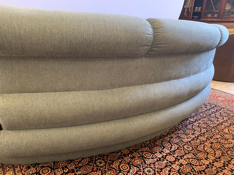 Adrian Pearsall Cloud Sofa for Comfort Designs Newly Upholstered in Slate Gray For Sale 8