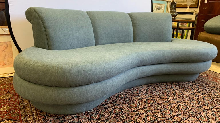 American Adrian Pearsall Cloud Sofa for Comfort Designs Newly Upholstered in Slate Gray For Sale