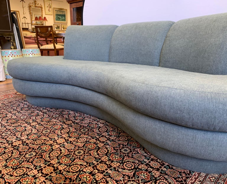 Adrian Pearsall Cloud Sofa for Comfort Designs Newly Upholstered in Slate Gray In Good Condition For Sale In West Hartford, CT