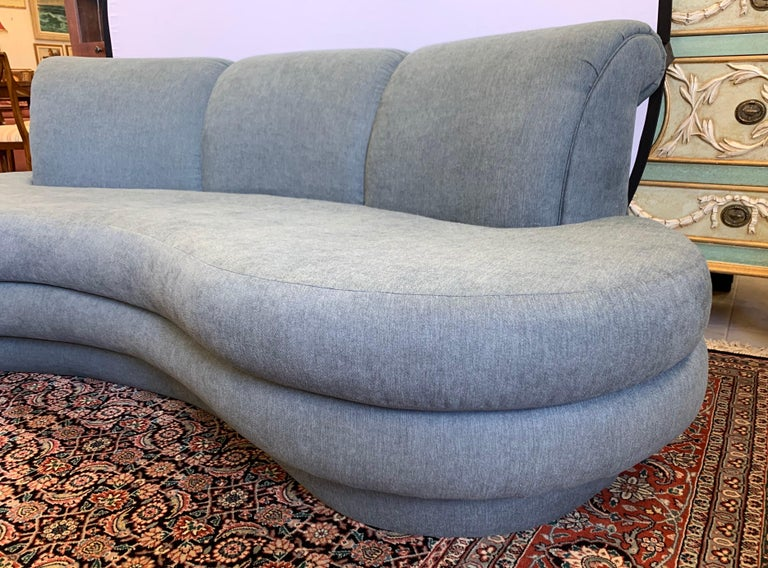 Late 20th Century Adrian Pearsall Cloud Sofa for Comfort Designs Newly Upholstered in Slate Gray For Sale
