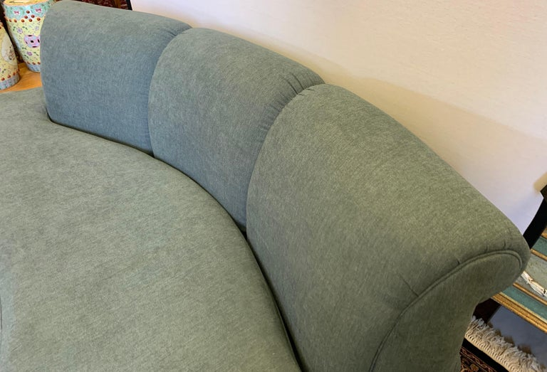 Adrian Pearsall Cloud Sofa for Comfort Designs Newly Upholstered in Slate Gray For Sale 1