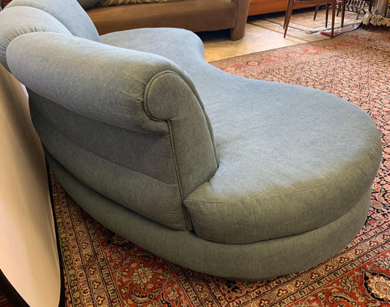 Adrian Pearsall Cloud Sofa for Comfort Designs Newly Upholstered in Slate Gray For Sale 2