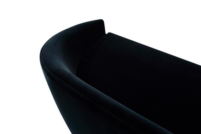 Adrian Pearsall Cloud Sofa in Deep Blue Mohair For Sale 4