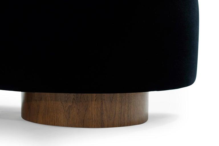 Adrian Pearsall Cloud Sofa in Deep Blue Mohair For Sale 5