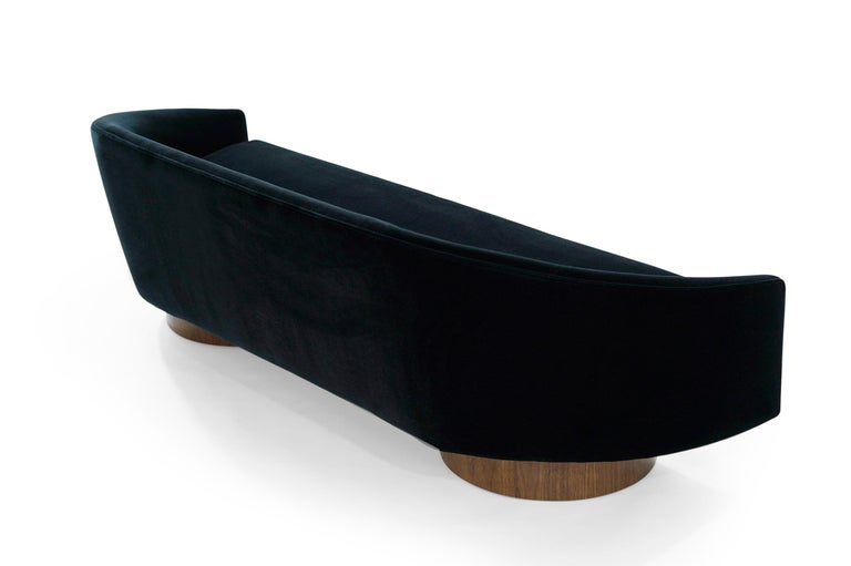 Adrian Pearsall Cloud Sofa in Deep Blue Mohair In Excellent Condition For Sale In Stamford, CT