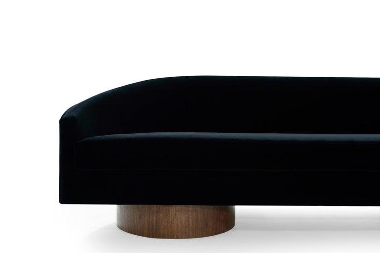 Adrian Pearsall Cloud Sofa in Deep Blue Mohair For Sale 1