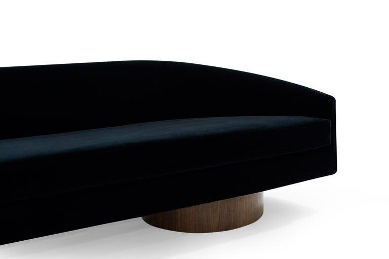 Adrian Pearsall Cloud Sofa in Deep Blue Mohair For Sale 2