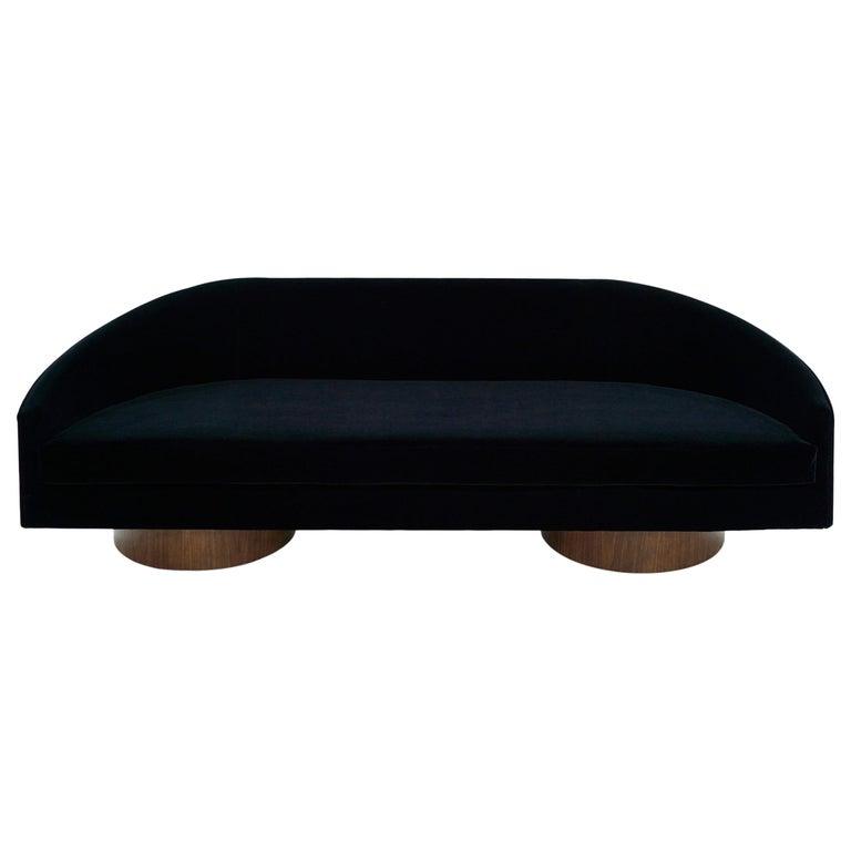 Adrian Pearsall Cloud Sofa in Deep Blue Mohair For Sale