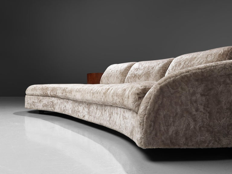 Adrian Pearsall Cloud Sofa in Fabric and Walnut For Sale 2