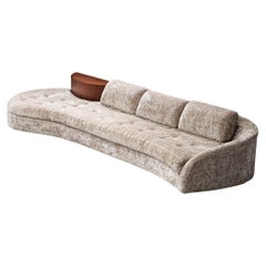 Adrian Pearsall Cloud Sofa in Fabric and Walnut