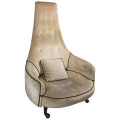 Adrian Pearsall Craft Associates Extra Large High-back Chair Model 2139-C