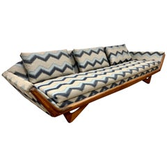 Adrian Pearsall Craft Associates Fully Refurbished Large Gondola Sofa