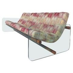 Adrian Pearsall Craft Associates Glass Sofa after Lenci, Mid-Century Modern