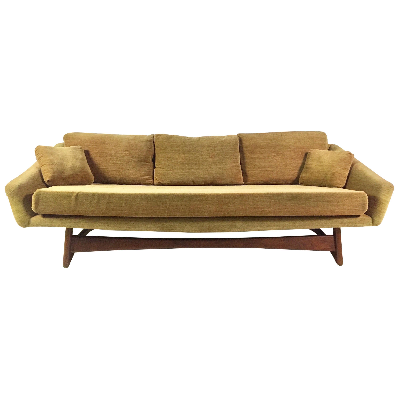 Adrian Pearsall Craft Associates Golden Brown Mid-Century Modern Sofa
