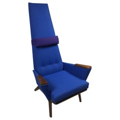 Adrian Pearsall Craft Associates Iconic Slim Jim High-Back Lounge Chair