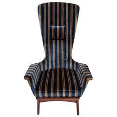 Adrian Pearsall Craft Associates Midcentury Highback Lounge Chair