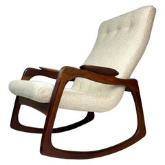 Adrian Pearsall Craft Associates Sculptural Rocking Chair Rocker New Upholstery