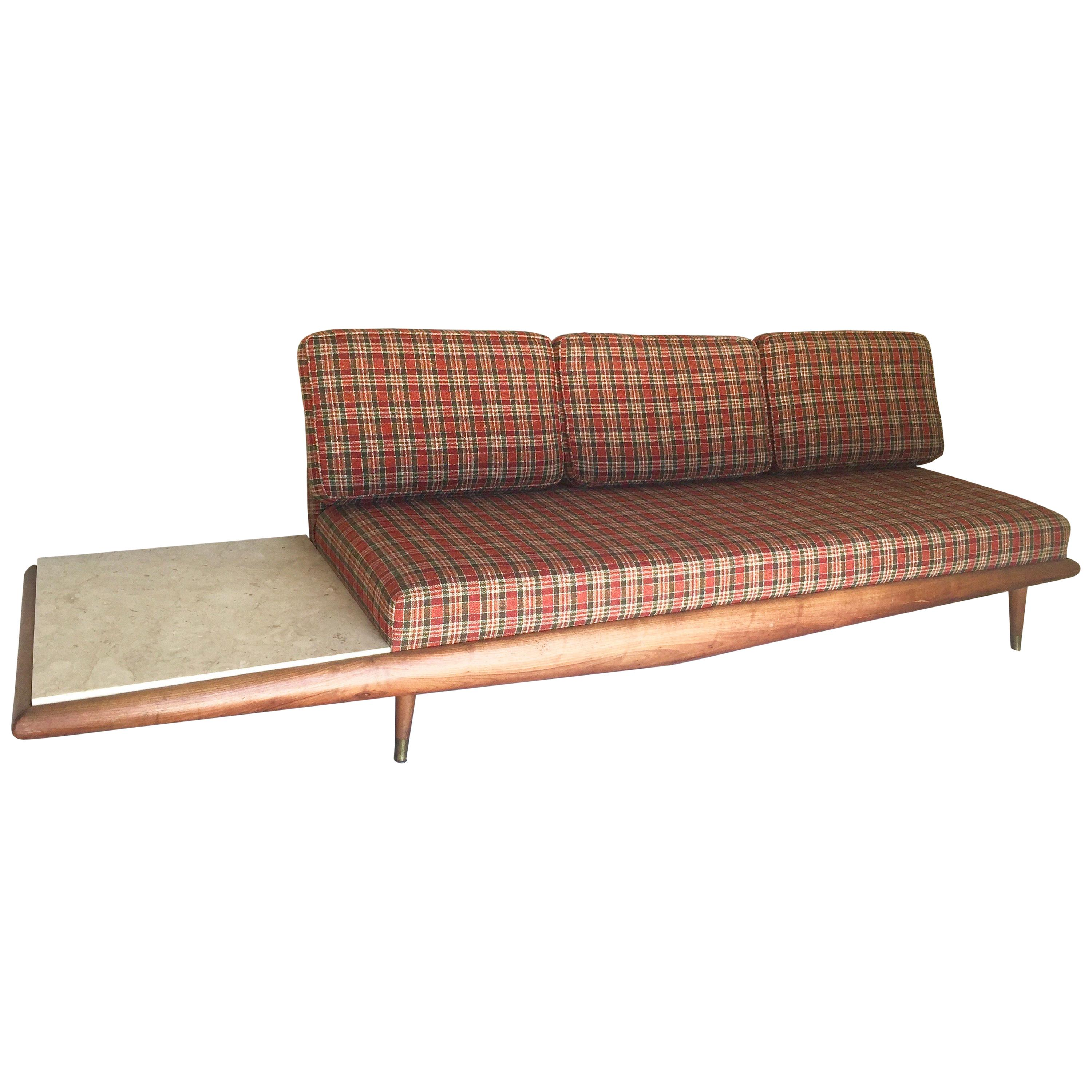 Adrian Pearsall Craft Associates Sofa with Marble End Table Mid-Century Modern