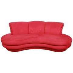 Adrian Pearsall Curved Kidney Shape Sofa for Comfort Designs