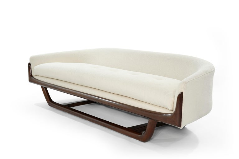 Mid-Century Modern Adrian Pearsall Cloud Sofa in Bouclé, Model 2834-S, C. 1950s For Sale