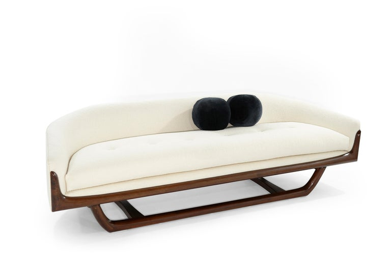 20th Century Adrian Pearsall Cloud Sofa in Bouclé, Model 2834-S, C. 1950s For Sale