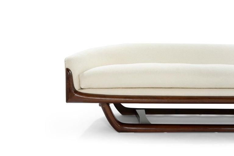 Walnut Adrian Pearsall Cloud Sofa in Bouclé, Model 2834-S, C. 1950s For Sale