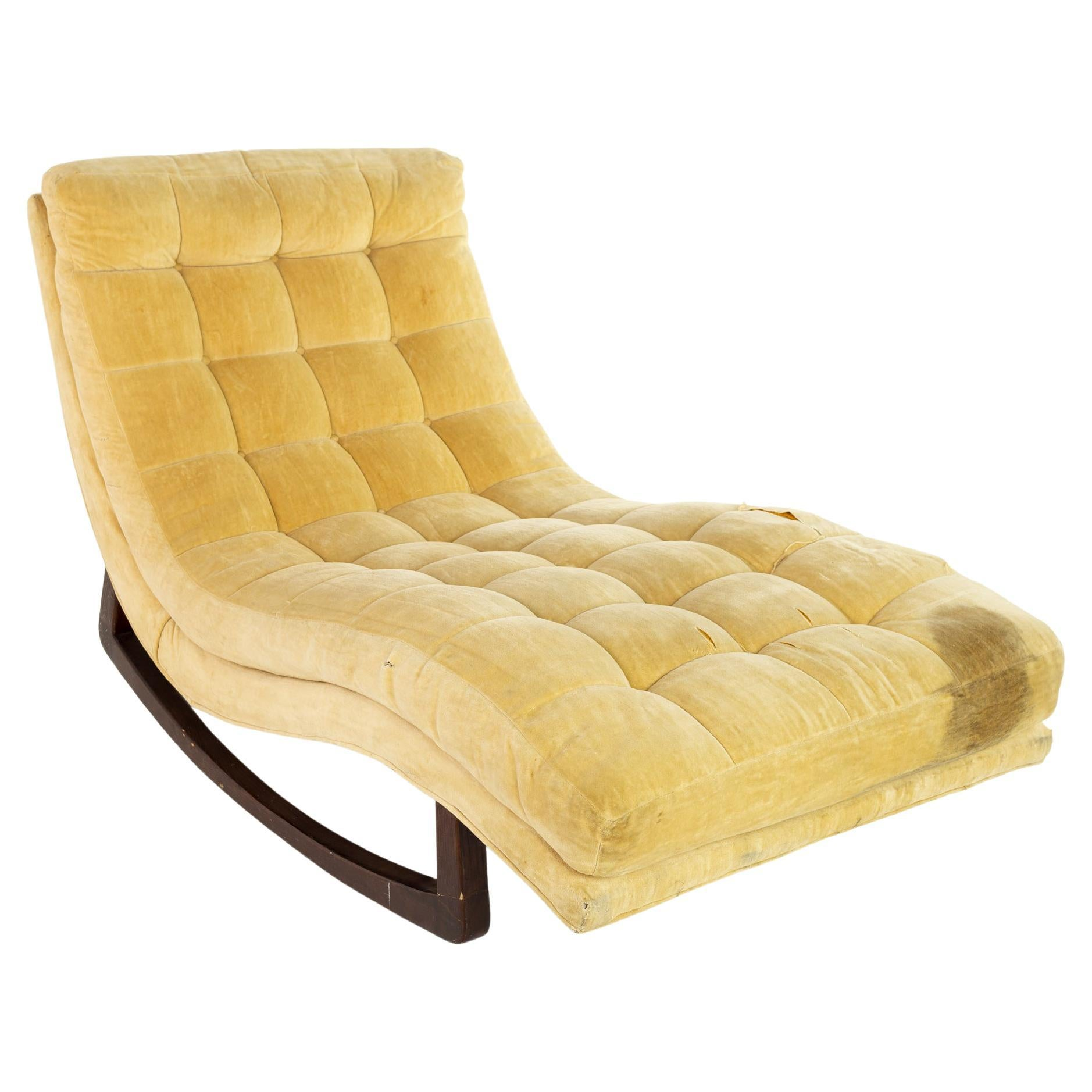 Adrian Pearsall for Craft Associates Mid Century Rocking Chaise Lounge Chair