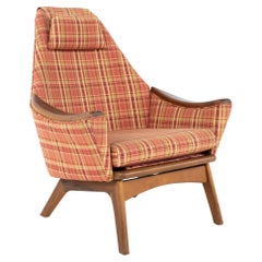Adrian Pearsall for Craft Associates 1808-C MCM Highback Walnut Lounge Chair