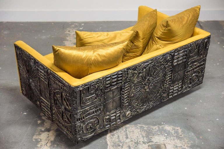 Adrian Pearsall for Craft Associates Brutalist Case Loveseat, 1960s  In Excellent Condition In Los Angeles, CA