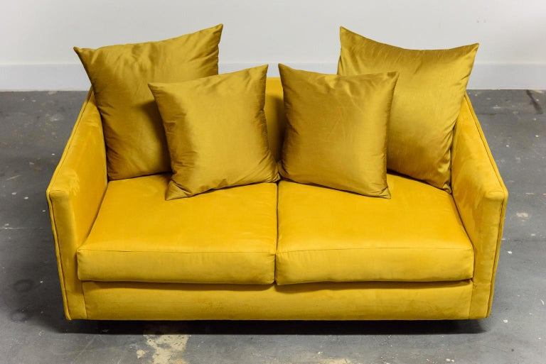 Fabric Adrian Pearsall for Craft Associates Brutalist Case Loveseat, 1960s