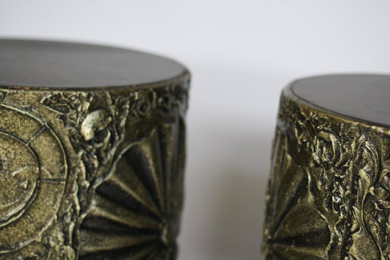 American Adrian Pearsall for Craft Associates Brutalist Drum Tables For Sale