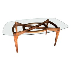 Adrian Pearsall for Craft Associates Dining Table with Glass