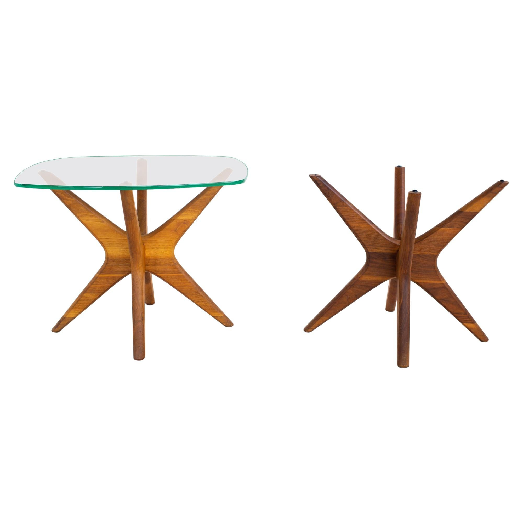 Adrian Pearsall for Craft Associates Mid Century Jacks Side End Table, Pair
