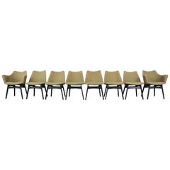 Adrian Pearsall for Craft Associates Mid-Century Modern Dining Chairs, Set of 8