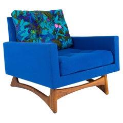 Adrian Pearsall for Craft Associates Model 2406-C MCM Sleigh Leg Lounge Chair