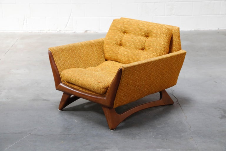 Mid-Century Modern Adrian Pearsall for Craft Associates Sculpted Lounge Chair, circa 1960s, Signed For Sale