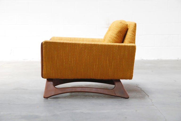 American Adrian Pearsall for Craft Associates Sculpted Lounge Chair, circa 1960s, Signed For Sale