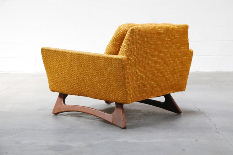 Adrian Pearsall for Craft Associates Sculpted Lounge Chair, circa 1960s, Signed In Good Condition For Sale In Los Angeles, CA