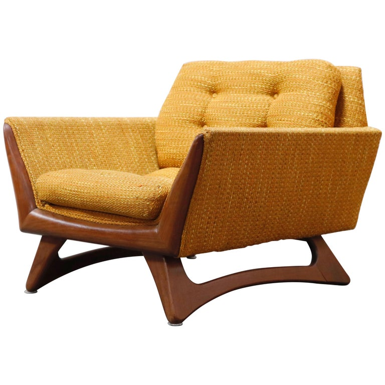 Adrian Pearsall for Craft Associates Sculpted Lounge Chair, circa 1960s, Signed For Sale