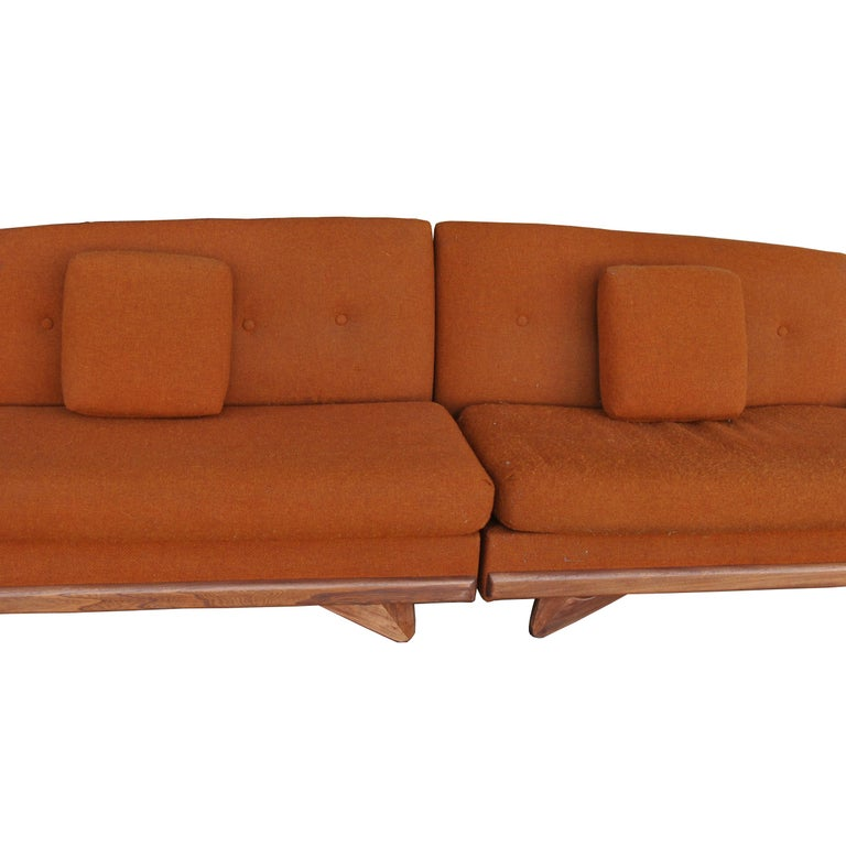 Fabric Adrian Pearsall For Craft Associates Sectional Sofa  For Sale
