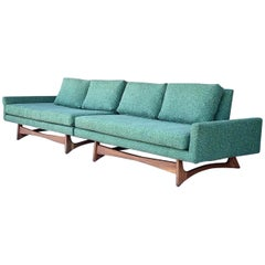 Adrian Pearsall for Craft Associates Sectional Sofa Sculptural Walnut Legs