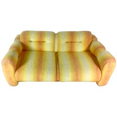 Adrian Pearsall for Craft Associates Signed Orange Yellow Midcentury Loveseat