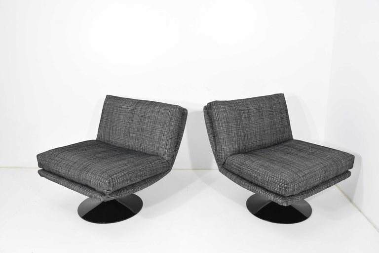Mid-Century Modern Adrian Pearsall for Craft Associates Swivel Chairs For Sale