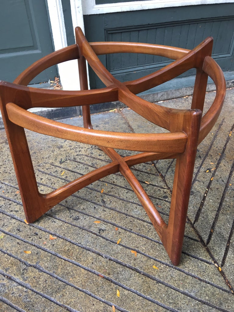 Mid-Century Modern Adrian Pearsall for Craft Associates Walnut and Glass Dining Table For Sale